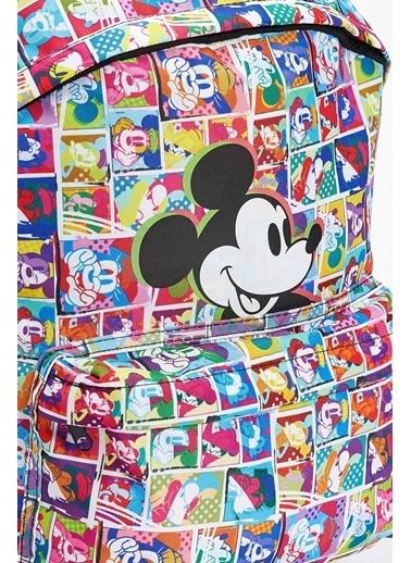DeFacto Kız Çocuk Mickey Mouse Lisanslı Sırt Çantası Renkli